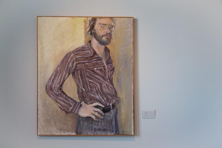 Ett självporträtt av konstnär Gert Aspelin.