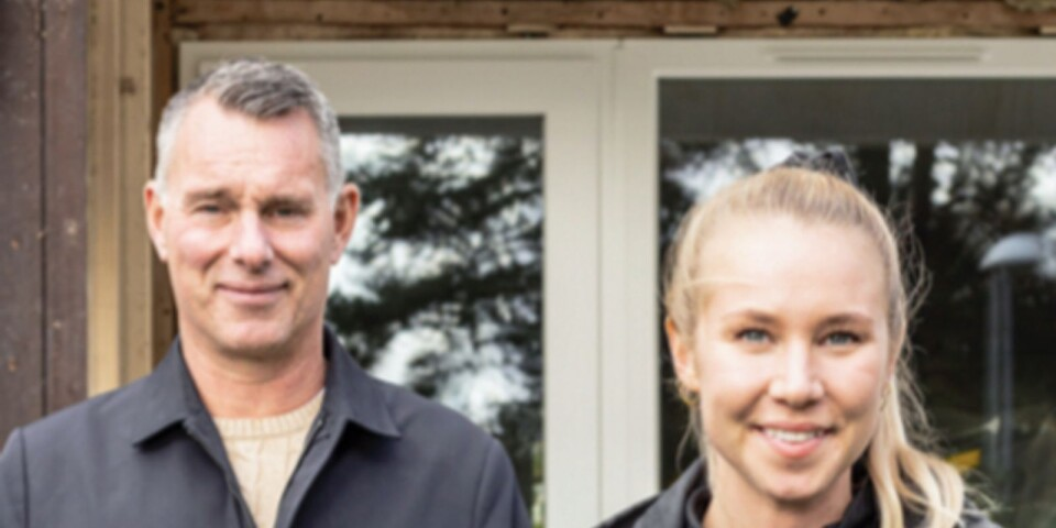 Björn Jevín, delägare i Kronfönster och Frida Johansson, arbetsledare på Dynacon.