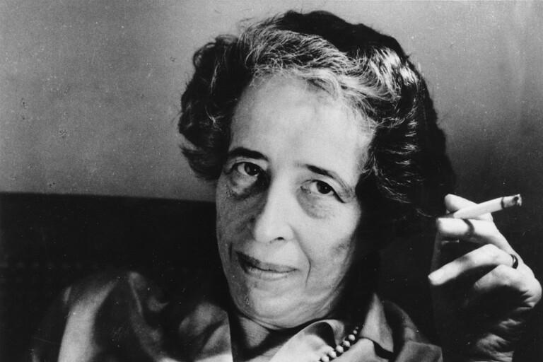 ...har i sina böcker ägnat sig åt filosofen Hannah Arendt och...