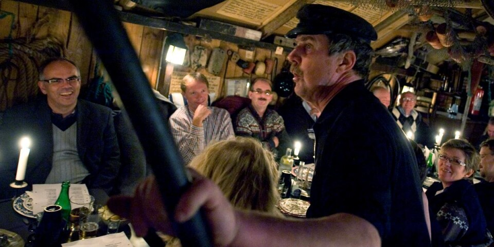 Ålagille, en fest med olika rätter med ål, hålls på hösten. Här hos Hånsa Olofsson i Tvillingaboden. Arkivbild.