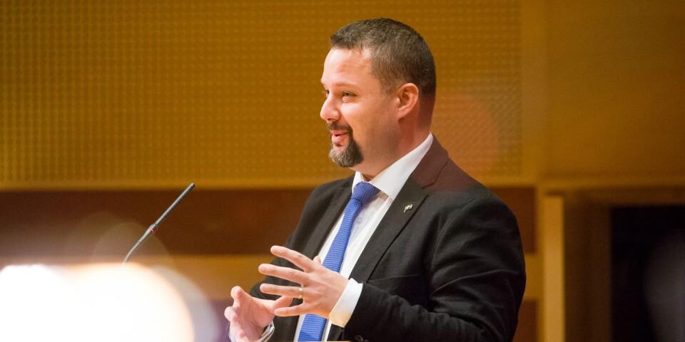Sverigedemokraternas gruppledare Christopher Larsson.