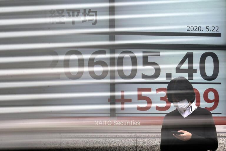 Asienbörserna inleder veckan med stigande kurser. Störst var lyftet på Hongkongbörsen. Arkivbild.