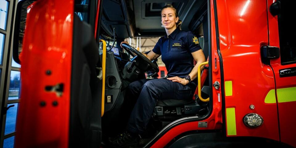 Moa Markusson jobbar som brandman.