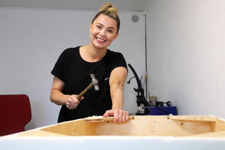 Hannah ger gamla möbler nytt liv