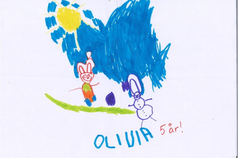 Barnens teckningar till Tomten