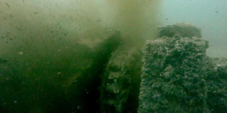 Undervattensrör vid Mörrums bruk.