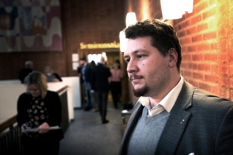 Andreas Exner, distriktsordförande i Sverigedemokraterna.