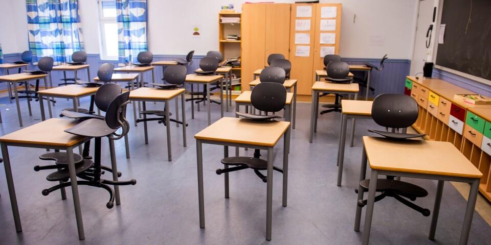 Många klassrum har stått tomma under pandemin. Istället har lektionerna hållits online.