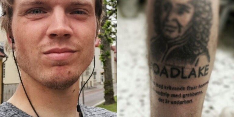 "Lakerssupportern tatuerade in Gynges citat: ""Hälla bensin på elden"""