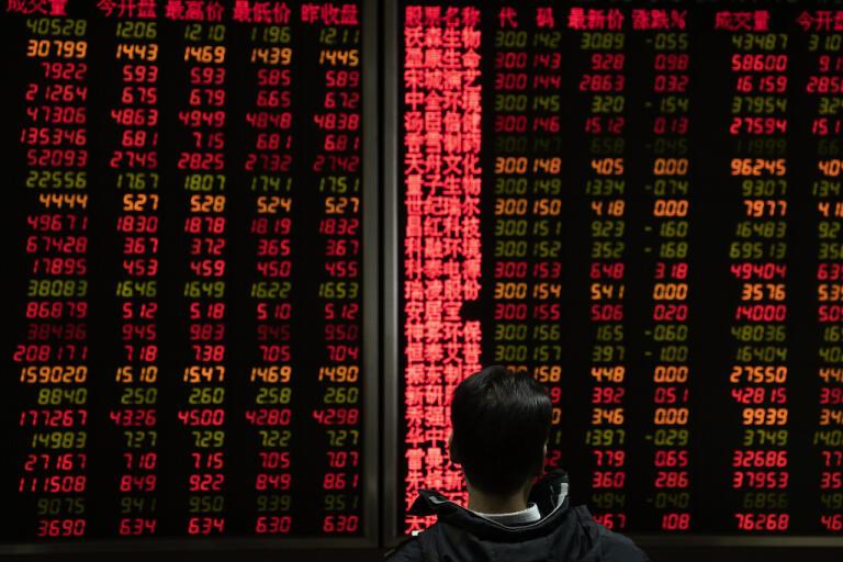 Hongkongbörsen sjunker i den tidiga handeln. Arkivbild.