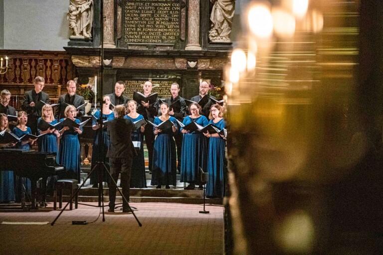 Lunds Vokalensemble gästade Trefaldighetskyrkan i fredags, 11 oktober.