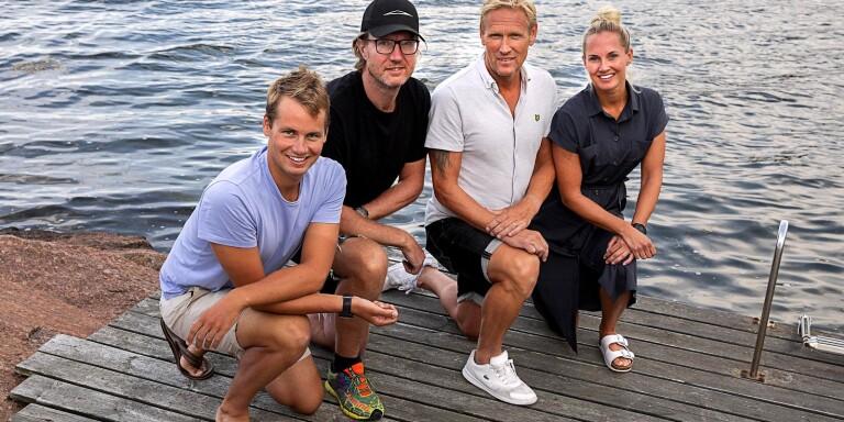 De utmanar sig själva på öppet vatten – ska simma till Öland