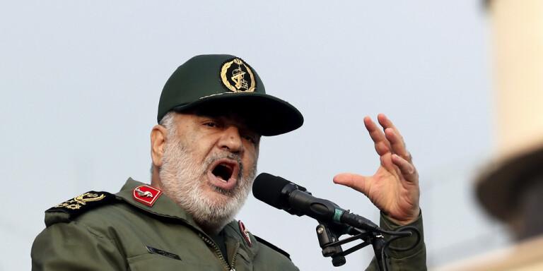 Hossein Salami, generalmajor för Irans revolutionsgarde. Arkivbild.