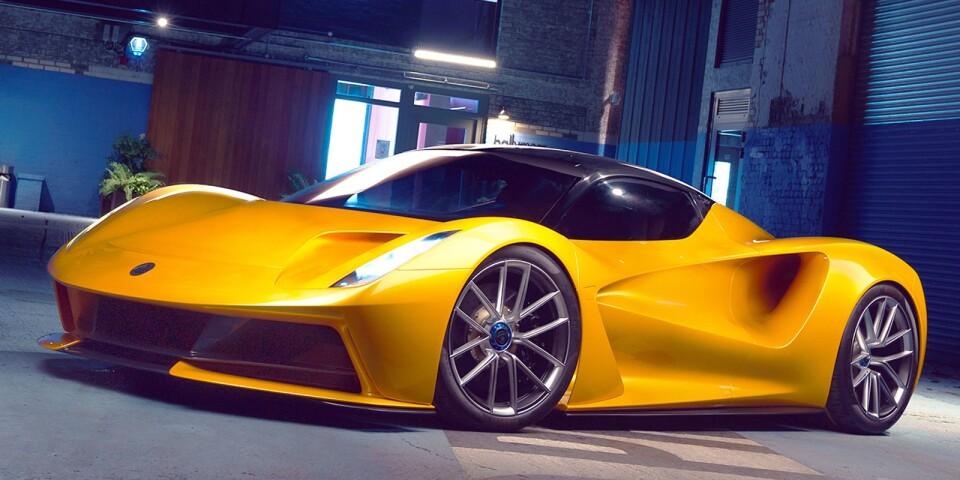 Englands första helt elektriska hyperbil heter Lotus Evija och såväl designen som drivlinan sticker verkligen ut från mängden. Evija har nämligen inte en eller två elmotorer, utan fyra på totalt 2000 hästkrafter. Varje motor genererar alltså 500 hästar och driver var sitt hjul. Därmed är också prestandan något utöver det vanliga och färden från 0 till 300 km/h rullar på under nio sekunder samtidigt som toppfarten överstiger 320. Räckvidden ligger på 34,5 mil och det är möjligt tack vare ett litumjonbatteri på 70 kWh - ändå väger britten blott 1680 kilo. Extra roligt i sammanhanget är att Lotus ingår i Geely-familjen tillsammans med Volvo.