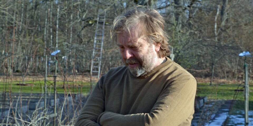 """""""Det är handkraft som gäller och jag började i skogen och har jobbat mig inåt. Min fru är konstnär och man ser hennes touch och finess i detaljerna"""", säger författaren och rockmusikern Peter Bryngelsson."""