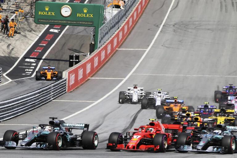 Formel 1-säsongen startar på banan i Spielberg i Österrike i juli. Arkivbild.