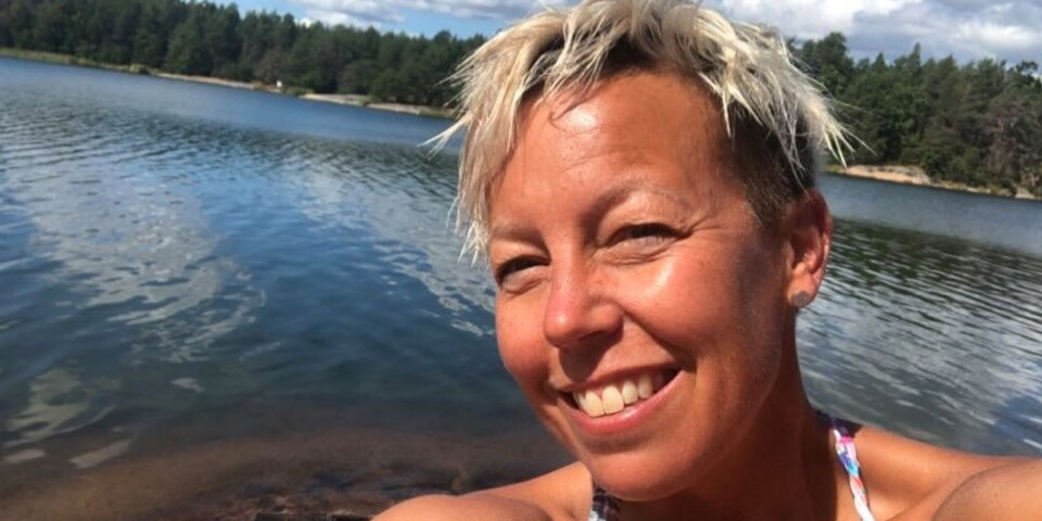Maria Frid har rapporterat ofta till tidningens Facebookgrupp om badtemperaturerna i sommar.