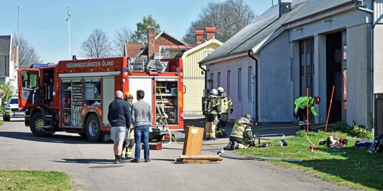 Branden på brandstationen i Mörbylånga, nu är polisutredningen nedlagd.