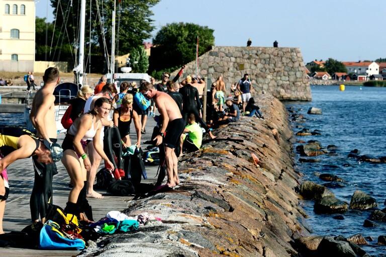 """Dagen före Ironman – här testar deltagarna banan: """"Lite nervös"""""""