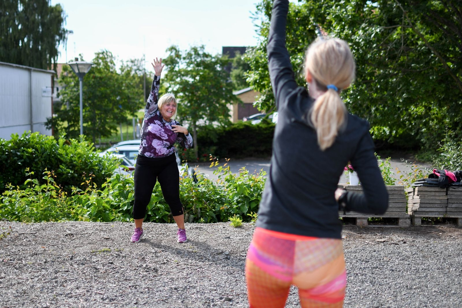 """""""Vi kommer fortsätta att köra träningspassen utomhus så långt in på hösten vi bara kan, eller tills det kommer nya rekommendationer"""", säger Åsa Roos."""
