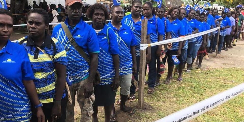 Intresset var stort för att delta i folkomröstningen i Bougainville.