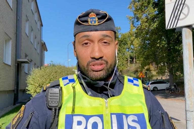 WEBB-TV: Polisen om bombdramat i centrala Karlshamn