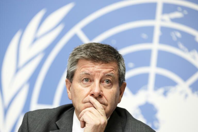 ILO:s generalsekreterare Guy Ryder målar upp dyster bild. Arkivbild.