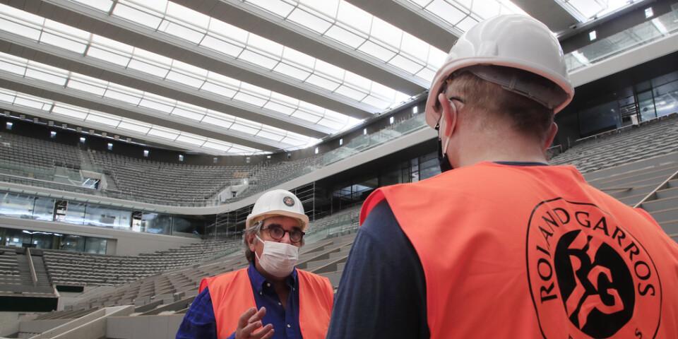 Det blir ett minskat publikinsläpp under det nybyggda taket på Franska mästerskapens center court. Arkivbild.