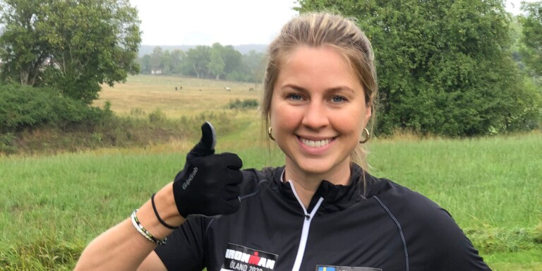 Gjorde egen Ironman på Öland – nu tackar hon för stödet