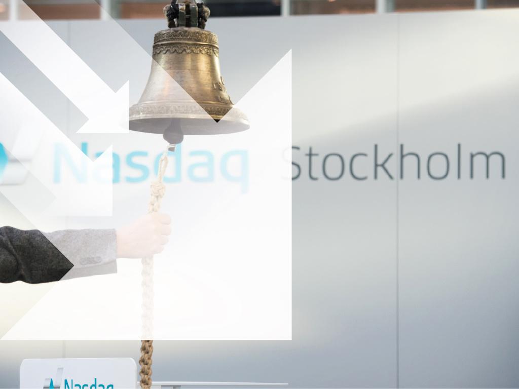 Stockholmsbörsen öppnar nedåt