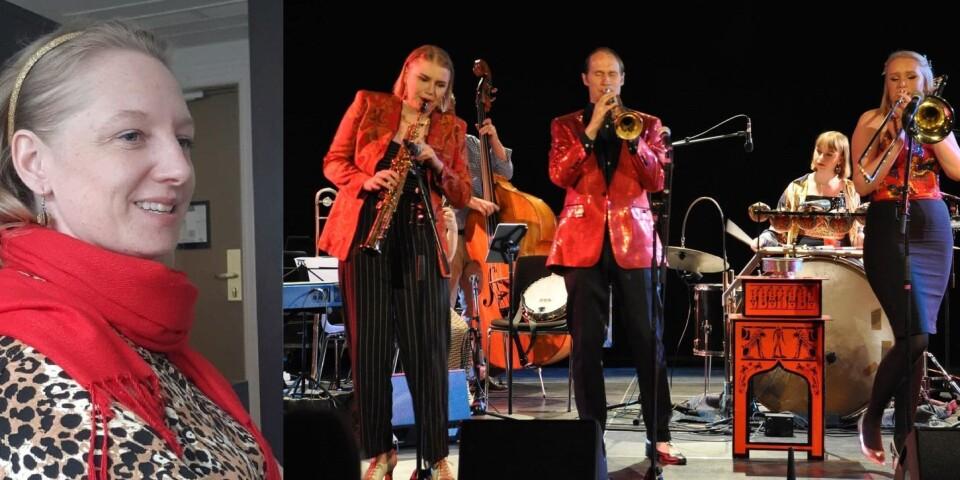 Anna-Frida Abrahamsson sjunger med Carling Family.