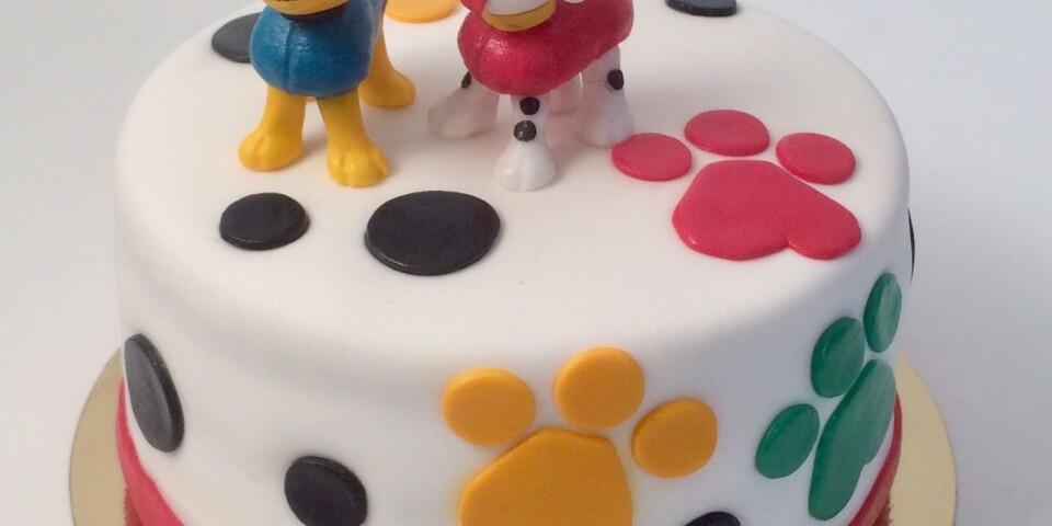 Barnprogrammet Paw Patrol fick stå modell för en tårta..