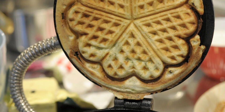 Waffles should be cooked until they are golden Brown.