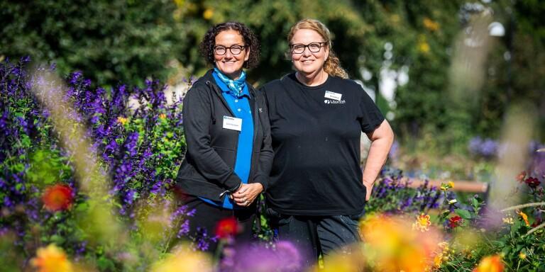 Zarah Necksten och Kristina Malmsten vill locka fler deltagare till Litorina folkhögskolas nya kurs med trädgårdsinriktning.