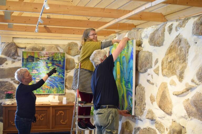 Lokala konstnärer aktiva in i det sista