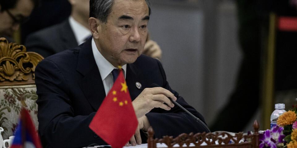 """Kinas utrikesminister Wang Yi har försvarat """"vargkrigardiplomatin"""" och anser att den är nödvändig för att värna Kinas värdighet och anseende i världen. Arkivbild."""