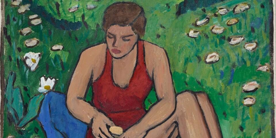 """Gabriele Münter: """"Fräulein Ellen im Gras"""" (1943)"""