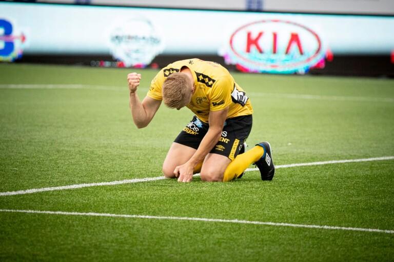 Per Frick satte 1–0 till Elfsborg från straffpunkten i den 3:e minuten, hans sjunde mål för säsongen. Efter matchen var han tveksam till straffbeslutet.