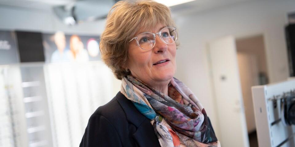 Butiksägare Margaretha Ingvarsson öppnade Direkt optik i Mjällby.