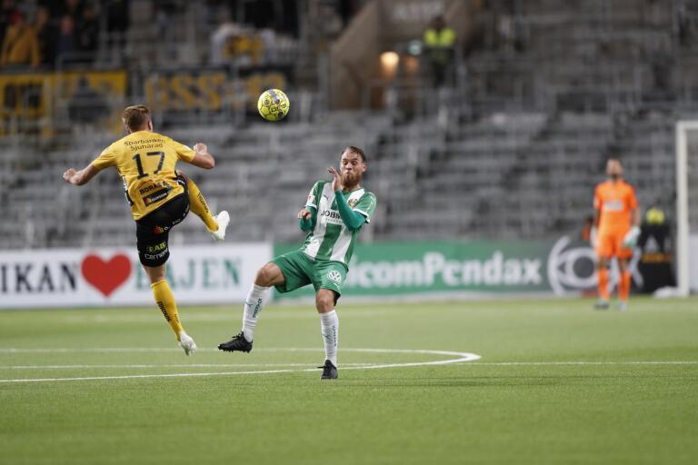 Elfsborg och Hammarby under fotbollsmatch i Allsvenskan.
