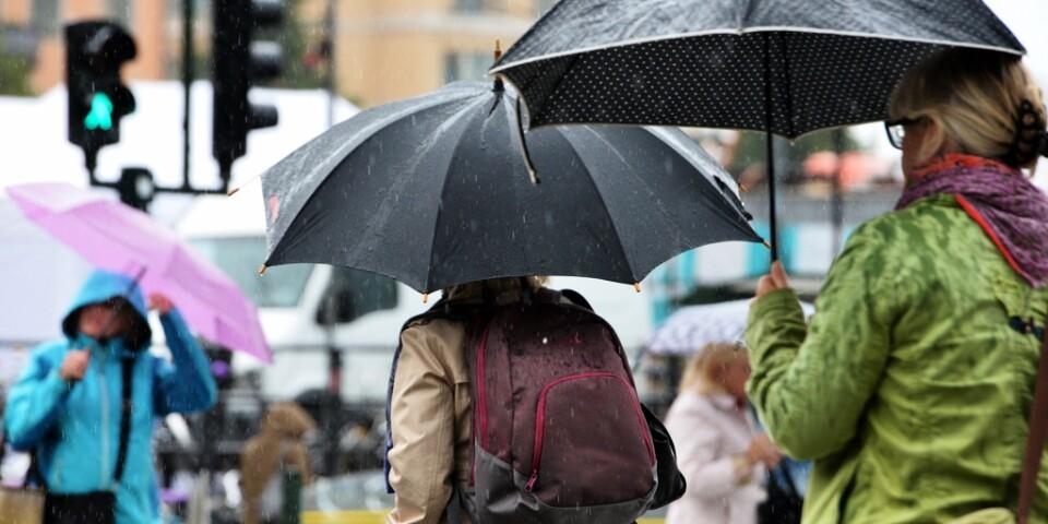 Varning för höstrusk! Väderprognosen för de närmaste dagarna innehåller både regn och vind. Arkivbild.