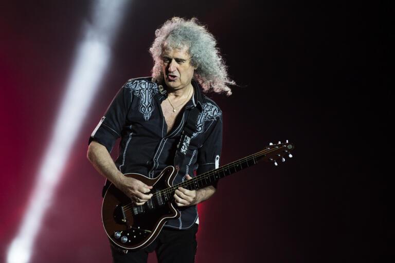 Queen-gitarristen Brian May har haft en mindre hjärtattack. Arkivbild.