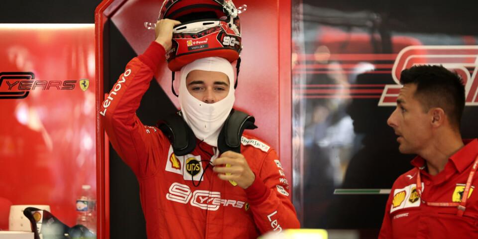 Charles Leclerc var snabbast under lördagens F1-tidskval.