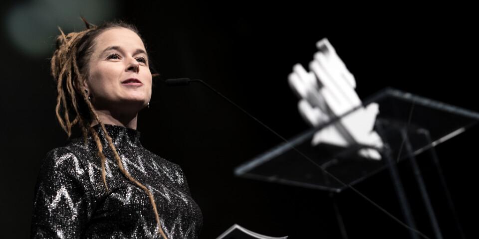 Kulturminister Amanda Lind (MP) invigningstalade på Göteborgs filmfestival.