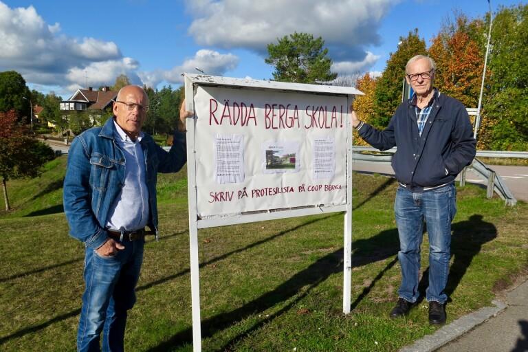 De vill stoppa förslaget om skolnedläggning i Berga