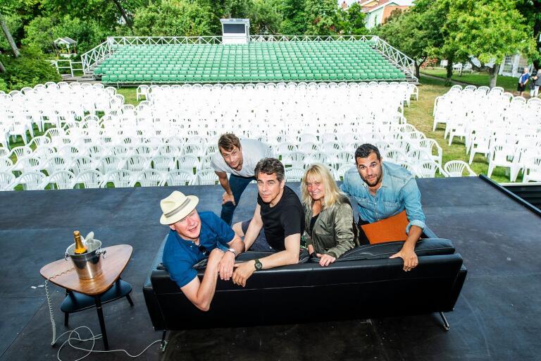 Edward af Sillén, Sussie Eriksson, Mikael Tornving, Robert Gustafsson och Ola Forssmed är laddade inför torsdagens premiär av årets sommarfars.