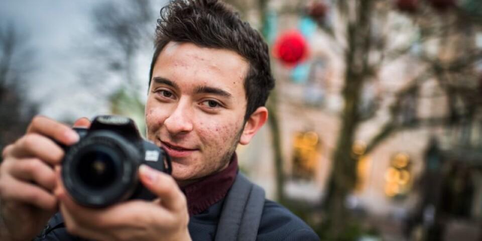 17-årige Mateo Lozano har gjort en kalender med bilder på Karlskrona under de olika årstiderna.