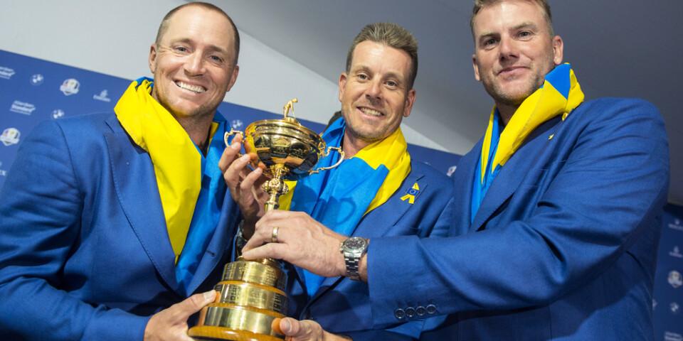 Robert Karlsson (till höger) blir vicekapten i Ryder Cup på nytt. Arkivbild.