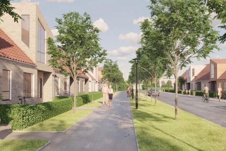 Fyra företag ska bygga bostäder på nya området