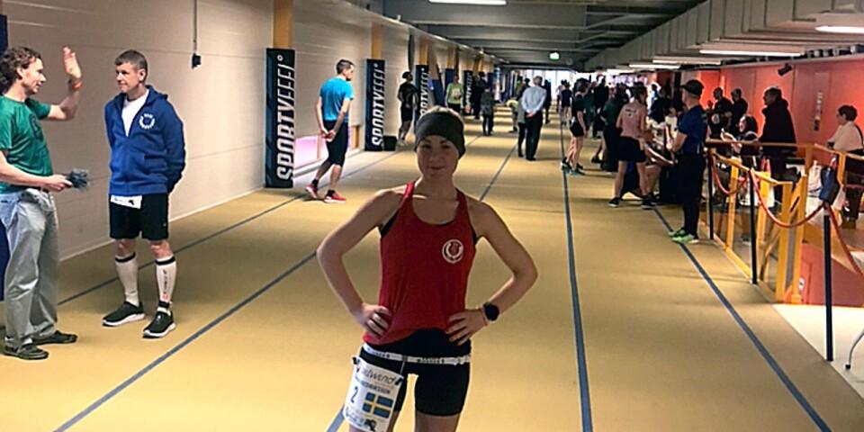 Therese Fredriksson, SOK Knallen, är nominerad till årets ultralöpare. Bilden är från 24-timmars i Finland, som gav henne en landslagsplats.